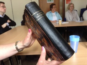The restored volume of Martin Chuzzlewit after Chaim Ebanks of Exeter Bookbinders rebound the book.