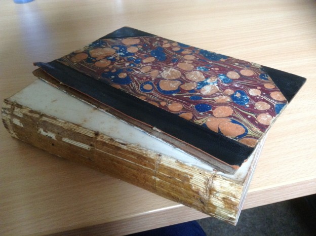 A copy of Martin Chuzzlewit before being restored by Exeter Bookbinders