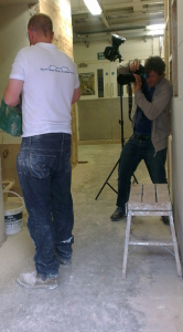 Level 3 Plastering photoshoot