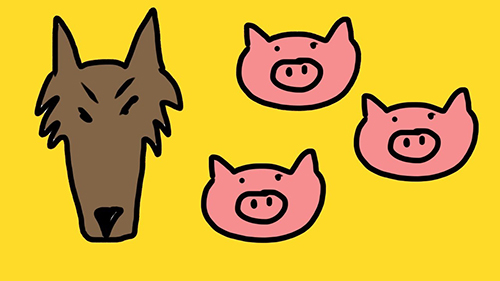 Three Little Pigs and a (not so?) Big Bad Wolf