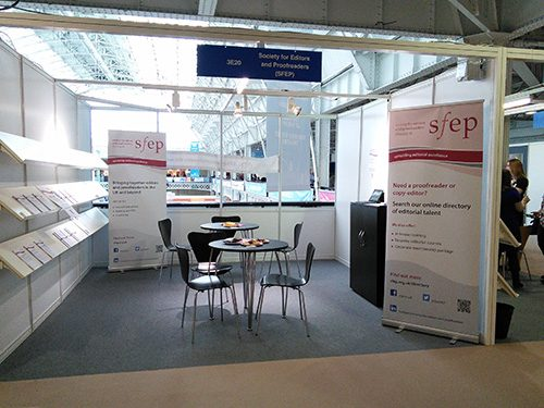 SfEP stand at London Book Fair 2016