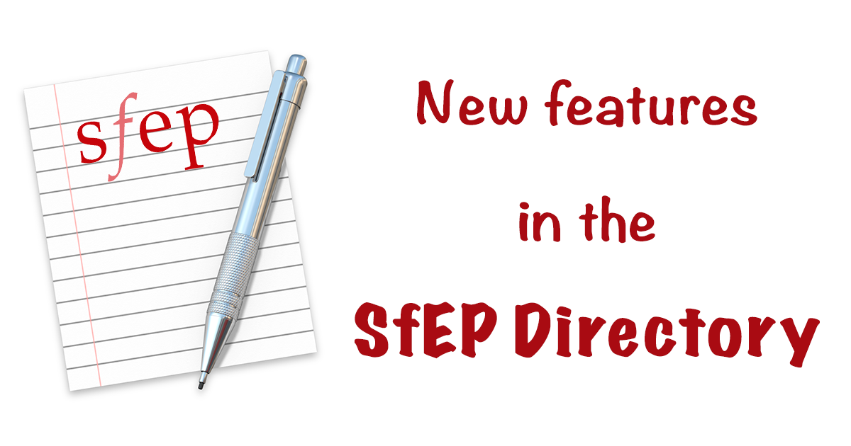 New features in the SfEP Directory