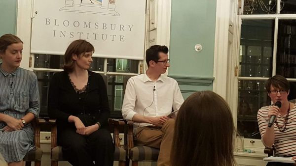 Marigold Atkey, Xa Shaw Stewart, Jonathan Eyers and Abi Saffrey at the Bloomsbury Institute