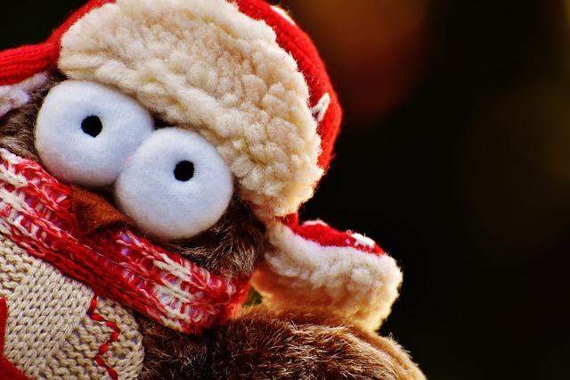 Christmas cuddly owl